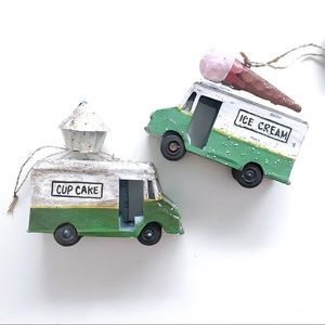 Whimsical Cupcake & Ice Cream Ornament